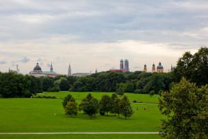 aАнглийский парк Мюнхена